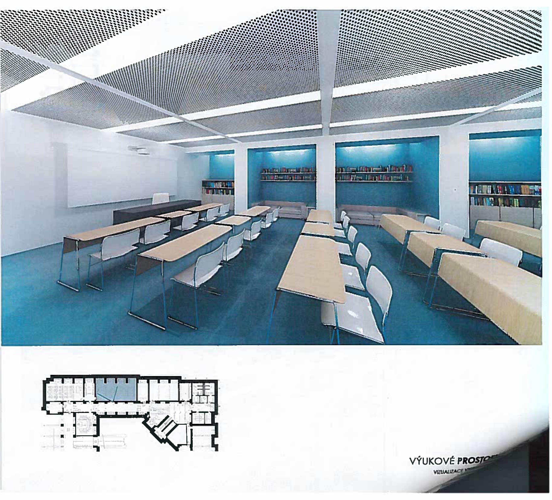 učebna dle návrhu architektů